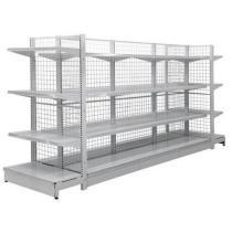 Prateleira do armazenamento do supermercado do fio da exposição do metal