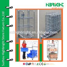 Supermarkt Logistik Metall Mesh Roll Container