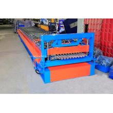 Tôles en acier ondulé galvanisé formant la machine IBR