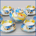 Porcelain factory elegant bone china coffee set tea set