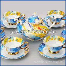 Porcelain factory elegant bone china coffee set tea set