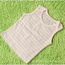 Gilet rayé vert en coton bio pour bébé