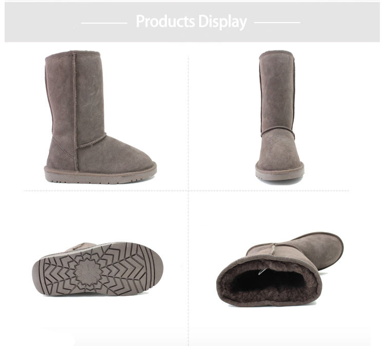 Rubber sole Super Warm Fur Lining - The upper is durable cow suede that will protect your feet from the elements. The fluffy cushion footbed has sheepskin lining for serious warmth and softness Durable and anti-slip TPR outsole - TPR outsole provides increased traction, durability, cushioning and flexibility. This half boot design is slip resistant and supports your arches, the deep tread provides friction with the ground