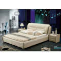 New Canton Fair Bed, Bedroom Furniture, Modern Leather Bed (J305)
