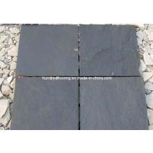 Azulejo de pizarra negro para pared y piso