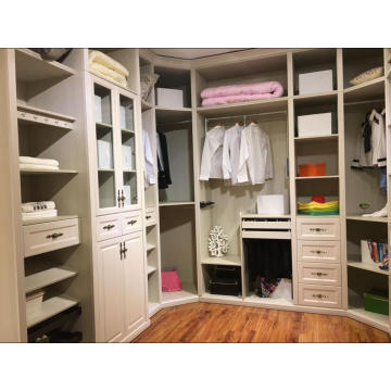 Customized White Walk in Wardrobe Closet (whith many colors)