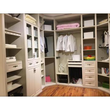 Подгонянная Белая прогулка в шкафу шкафа (whith много цветов)