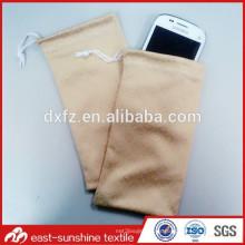 Fabricante de impresión digital hecho en China personalizado bordado bolsa de teléfono móvil