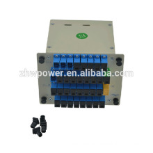 Professional FTTH 1x32 inserted type fiber optic PLC Splitter with low insertion loss