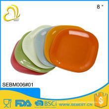 Haute qualité meilleure vente produits 12 pouce en plastique carré plaque de bambou