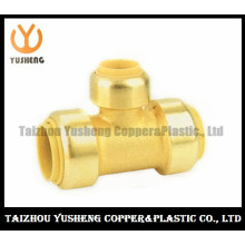 Male Brass Lead Free Quick-Connect Fittings T-Joint (YS3007)