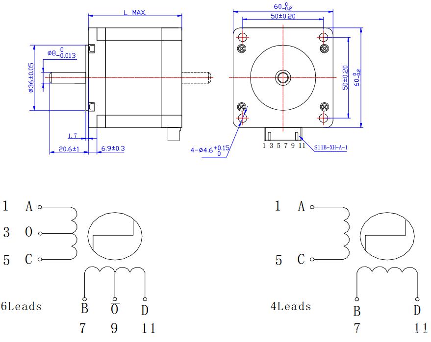 60mm heavy duty stepper motor die-cast endbells/2-phase stepper motor