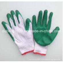 Gant de sécurité fonctionnant avec le gant mince de travail de revêtement de latex en Chine