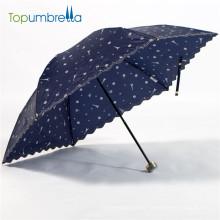 Guarda-chuva japonês aberto manual de dobramento de 20inch 3