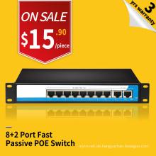 Support VLAN 250 Meter 100M 8 Port nicht-Standard passive Poe-Switch