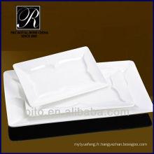 P & T chaozhou usine en porcelaine plaque rectangulaire, assiette de viande, assiette de restauration de restaurant