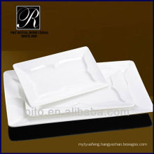 P&T chaozhou factory porcelain rectangular plate, meat plate, restaurant dinner plate set
