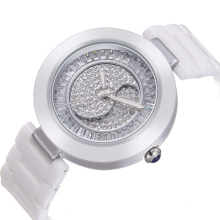 2017 hot selling large wrist white ceramic watch for women