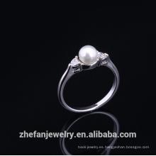 Los anillos de dedo de la venta caliente suenan los regalos de boda indios para las huéspedes Las joyas plateadas de rodio son su buena selección