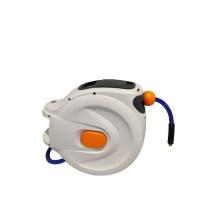 Carrete de manguera de aire flexible montado en la pared con rebobinado automático
