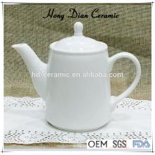 Pote de té de cerámica blanca, tetera de porcelana moderna, tetera de cerámica al por mayor, pote de té de cerámica de 460ml