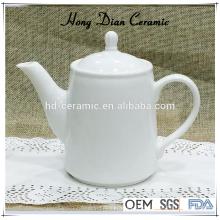 Pote de chá de cerâmica branca, bule de porcelana moderna, teapot de cerâmica por atacado, pote de chá de cerâmica de 460ml