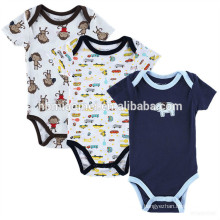 Hot sale infant climb jumpsuit short sleeve cartoon baby plain black romper