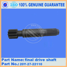 Komatsu spare parts PC200-6 final drive shaft 20Y-27-22110 for final drive parts