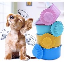 Pet Bowl para Gaiola Pendurado em Aço Inoxidável Cachorro Gato Comida de Pássaro Tigela para Anexar a Gaiola