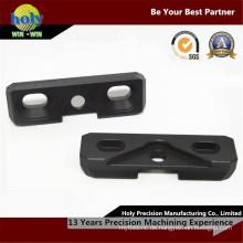CNC-Fräser Aluminiumgehäuse mit Durchgangsbohrung mit schwarz eloxiertem