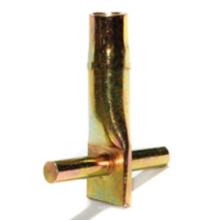 Zócalo de fijación de hormigón prefabricado con pasador transversal (herrajes de construcción)