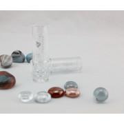 Hermoso tubo de barra de labios transparente