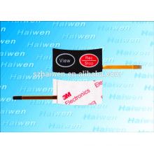 Emboss two Button thin-film switch with flexible panel