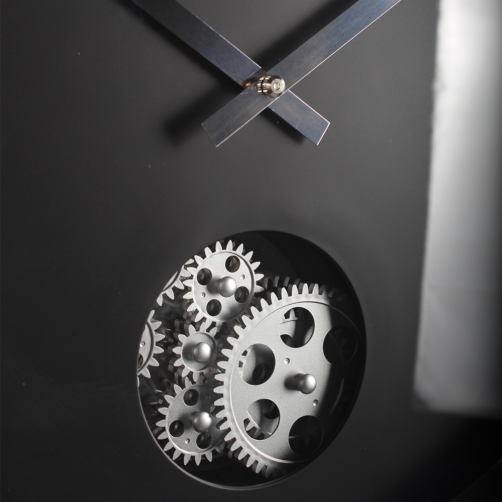 Modern Wall Clock Black