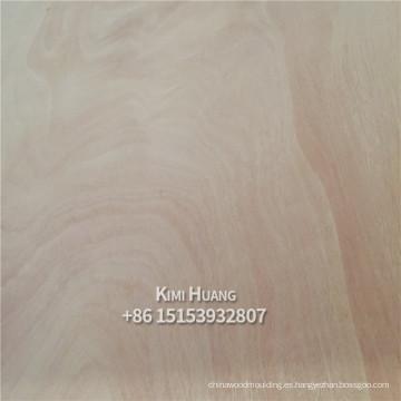 4x8 3,0 mm madera contrachapada okoume roja para el mercado de Filipinas