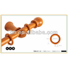 painted ebony wooden rings for curtain rod
