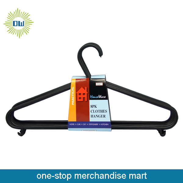 Dollar Items of 8pc Plastic Cloth Hangers