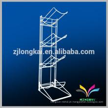 Fábrica de Fábrica de Alta Qualidade 4 Tiers Fio de metal branco 5 galões de prateleira de garrafa de água