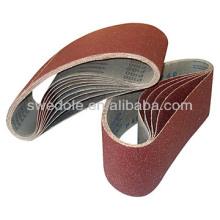 Super coated abrasive emery sanding belt/glass sanding belts/glass polishing diamond sanding belt Professional Manufacturer