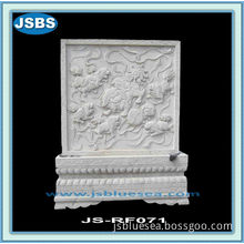 White Decorative Wall Relief Panels With Lion