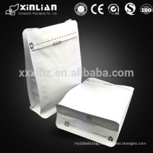 kraft paper bottom gusset zip seal coffee bag with valve