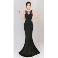 The new long tail evening dress