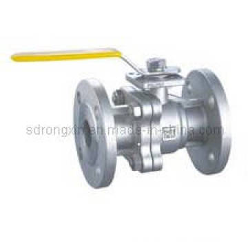 Stainless Steel DIN High Mounting Pad Flanged Ends Ball Valve