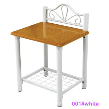 Moderne weiße Holz- und Metall-Nachttisch Nachttisch (001 # Weiß)