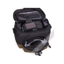 Roomy Practical Nylon Slr Camera Pouch With Large Storage Space, Black / Army Green
