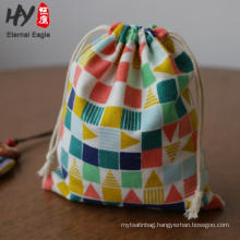 popular models canvas round bottom drawstring bags