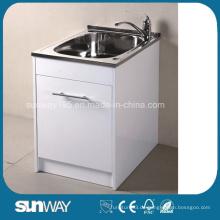 Heiße Verkauf Sanitäre Waren-Edelstahl-Wäscherei-Wanne mit Wasser-Blockierung
