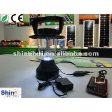 black solar led lantern with Ni-Cad battery and step-up transformer