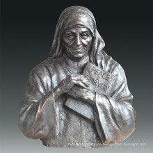Große Figur Statue Madre Teresa Bronze Skulptur Tpls-076