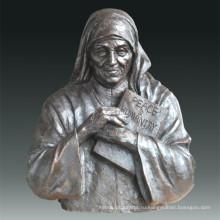 Большая фигура Статуя Мадре Терезы Бронзовая скульптура Tpls-076